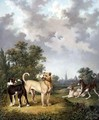 Dogs in a Landscape, c.1820 - Charles Towne