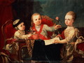 Three Princes, Children of Charles III - Francisco de la Traverse