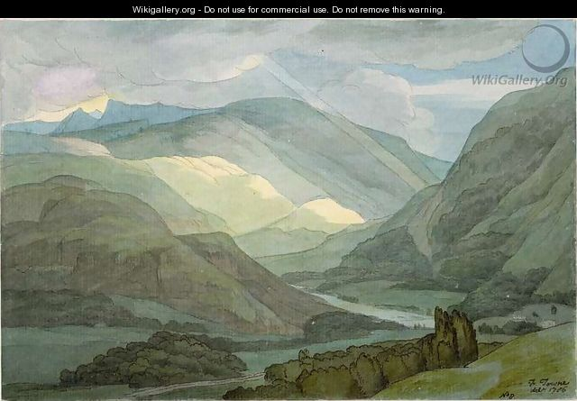 Rydal Water, 1786 - Francis Towne