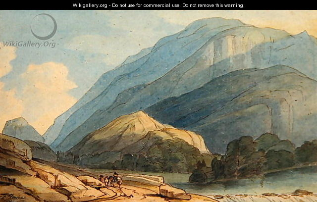 The Entrance into Borrowdale, c.1786 - Francis Towne