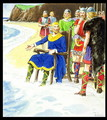 King Canute c.995-1035 from Peeps into the Past, published c.1900 - Trelleek