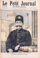 Portrait of Shah Mozzafer-ed-Din 1853-1907 illustration from Le Petit Journal, 17th May 1896 - Oswaldo Tofani