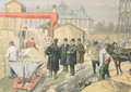 The Prince of Wales 1841-1910 Visiting the Building Site of the 1900 Universal Exhibition, from Le Petit Journal, 20th March 1898 - Oswaldo Tofani