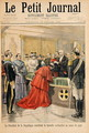 The apostolic nuncio receiving the Red Hat from the President of the French Republic, from Le Petit Journal, 19 July 1896 - Oswaldo Tofani