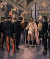 Paul Doumer 1857-1932, Governor General of Indochina, Received by the King of Siam in Bangkok, from Le Petit Journal, 7th May 1899 - Oswaldo Tofani