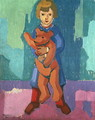 Boy with a Teddy Bear - Axel Torneman