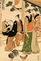 Looking at each other meeting - Kiyonaga Torii