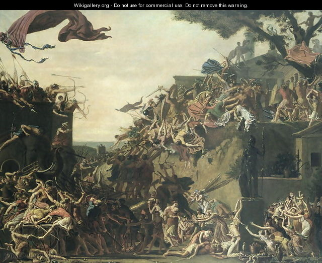 The Siege of Sparta by Pyrrhus 319-272 BC 1799-1800 - Jean-Baptiste Topino-Lebrun