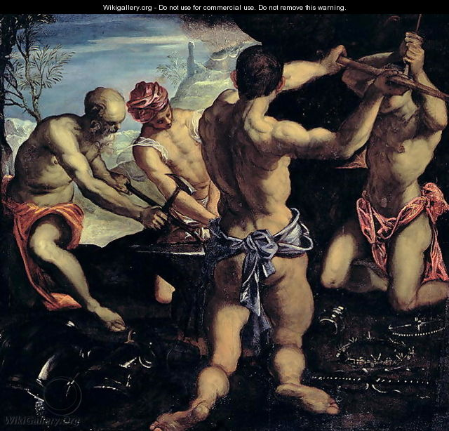 Vulcans Forge - Jacopo Tintoretto (Robusti)