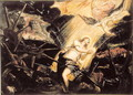 St. Catherine endures the torture of the wheel - Jacopo Tintoretto (Robusti)