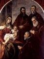 Madonna and child with four Statesmen - Jacopo Tintoretto (Robusti)