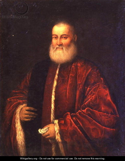Portrait of an Old Man in Red Robes - Jacopo Tintoretto (Robusti)