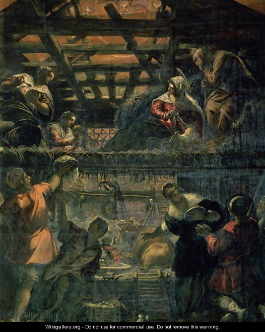 The Adoration of the Shepherds, 1578-81 - Jacopo Tintoretto (Robusti)