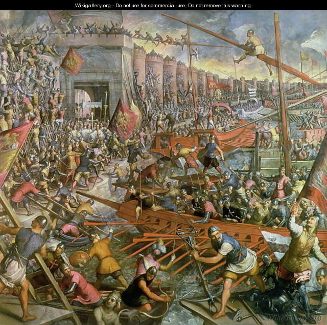 The Capture of Constantinople in 1204 - Jacopo Tintoretto (Robusti)