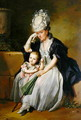 The Artists Second Wife and Son, 1780s - Anton Wilhelm Tischbein