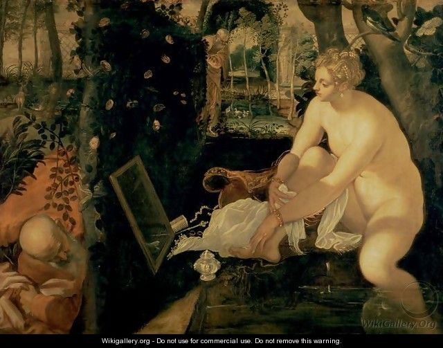 Susanna Bathing, 1555-56 - Jacopo Tintoretto (Robusti)