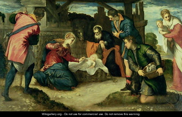 The Adoration of the Shepherds, 1540s - Jacopo Tintoretto (Robusti)