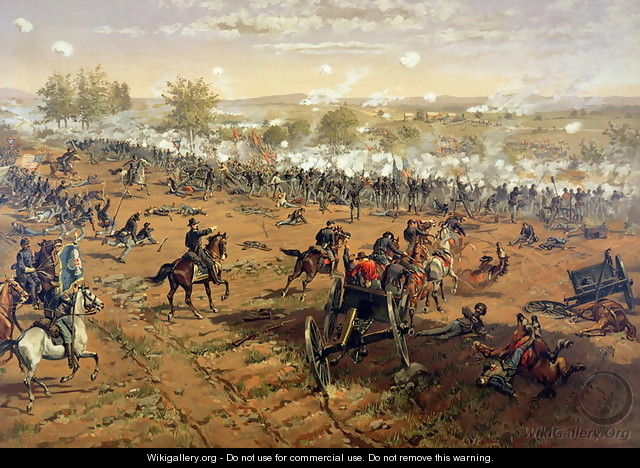 Battle of Gettysburg, 1863, printed by L. Prang and Co., 1887 - Thure de Thulstrup