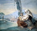 Old Peasant Woman with a Basket of Eggs, from the Foresteria - Giovanni Domenico Tiepolo