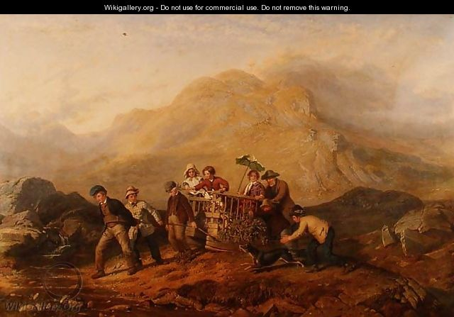 The Height of Ambition, A scene in the Mardale mountains - Jacob Thompson