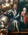 George I and his grandson, Prince Frederick, detail from the Painted Hall - Sir James Thornhill