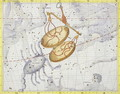 Constellation of Libra, plate 7 from Atlas Coelestis, by John Flamsteed 1646-1710, published in 1729 - Sir James Thornhill