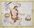 Constellation of Hercules with Corona and Lyra, plate 21 from Atlas Coelestis, by John Flamsteed 1646-1710, published in 1729 - Sir James Thornhill