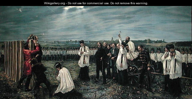 Execution of Hungarian Officers by the Austrians at Arad, Hungary on 6th October 1849, 1893 - Janos Thorma