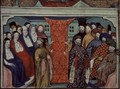 Harl 1319 f.57 The Parliament at Westminster deposes Richard II and proclaims the Duke of Lancaster King Henry IV, from the Histoire du Roy dAngleterre, Richard II - Master The Virgil