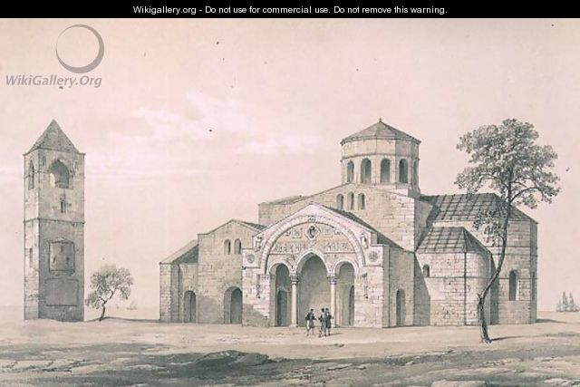 South east view of St. Sophias, Trebizond, pub. by Day and Son - (after) Texier, Charles Felix Marie