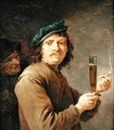 Man Holding a Pipe and a Glass of Beer - David The Younger Teniers