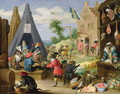A Monkey Encampment - David The Younger Teniers