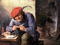 Seated Peasant Filling a Pipe - David The Younger Teniers