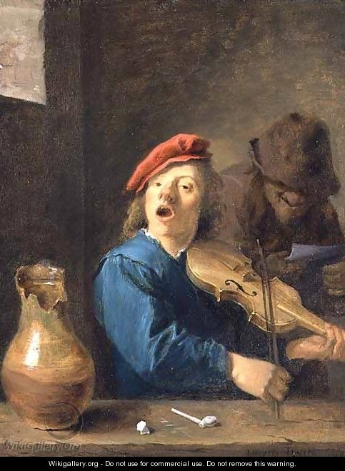 The Fiddler, 1633 - David The Younger Teniers