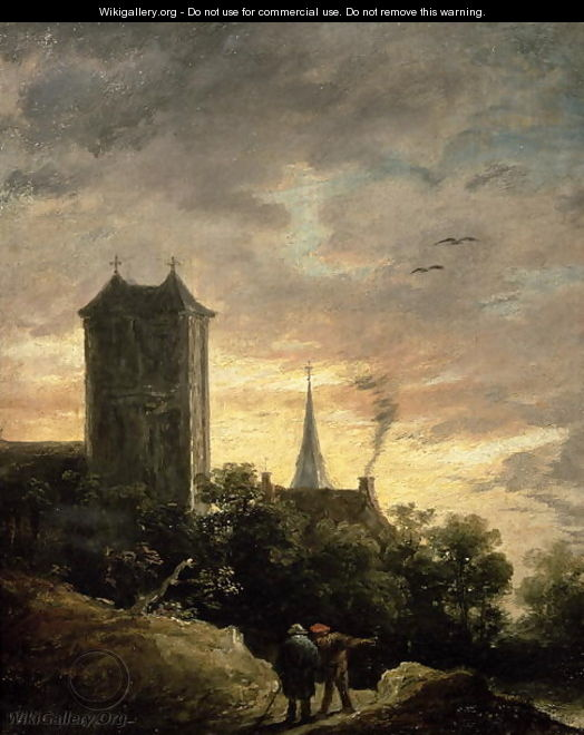 Landscape with a Tower - David The Younger Teniers