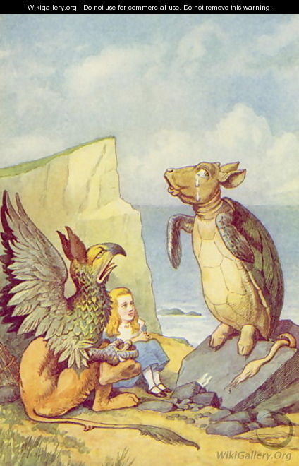 The Mock Turtle and the Gryphon, illustration from Alice in Wonderland by Lewis Carroll 1832-9 - John Tenniel