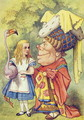 Alice with the Duchess, illustration from Alice in Wonderland by Lewis Carroll 1832-9 - John Tenniel