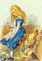 Alice Upsets the Jury-Box, illustration from Alice in Wonderland by Lewis Carroll 1832-9 - John Tenniel