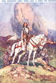 Joan Arc- The Country Girl who Led a King to Victory, illustration from Newnes Pictorial Book of Knowledge - Dudley C. Tennant