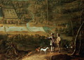 Landscape with sportsmen - David The Younger Teniers
