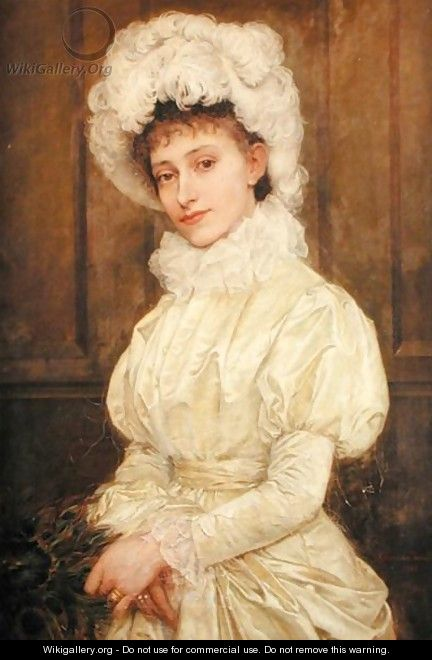 Portrait of Mrs Spencer Herapalt, nee Ada Oakes, 1880 - Georgina Koberwein Terrell