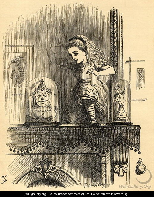 Alice in the Looking Glass House, illustration from Through the Looking Glass by Lewis Carroll 1832-98 first published 1871 - John Tenniel