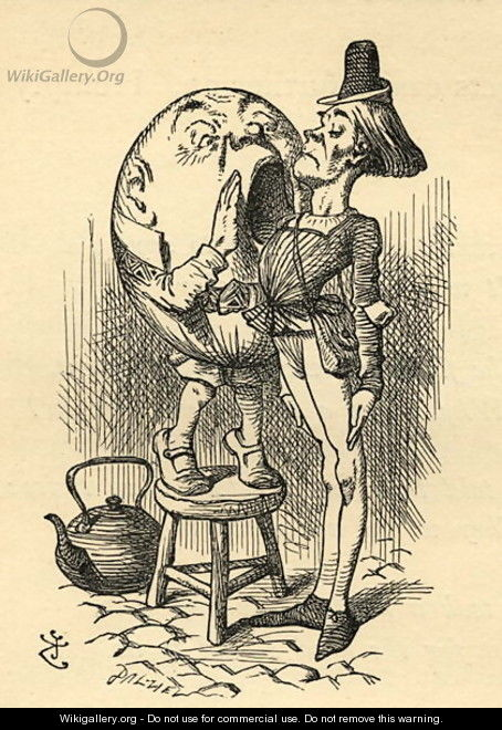 Humpty Dumpty, illustration from Through the Looking Glass by Lewis Carroll 1832-98 first published 1871 - John Tenniel