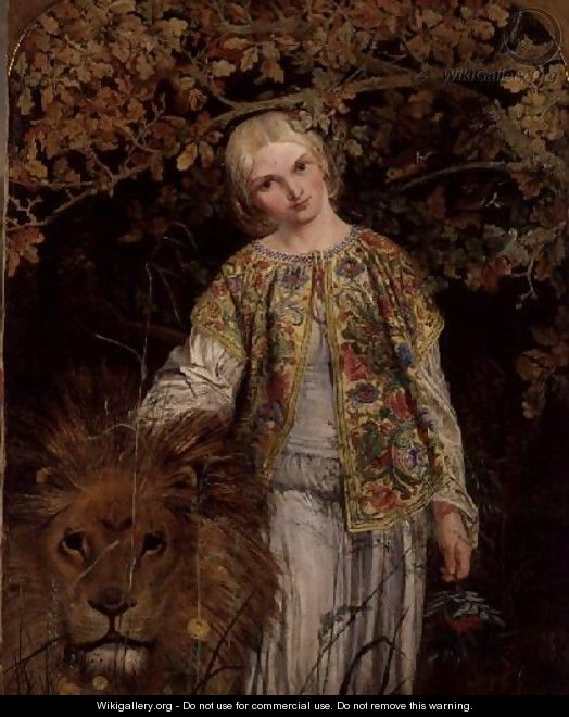Una and the Lion, exh. 1860 - William Bell Scott
