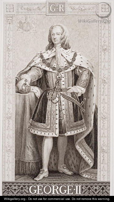 George II 1683-1760 from Illustrations of English and Scottish History Volume II - Enoch Seeman
