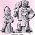 Terracotta Idols of Tabasco, from The Ancient Cities of New Mexico, by Claude-Joseph-Desire Charnay, pub. 1887 - (after) Sellier, P.