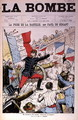 Cover of La Bombe depicting General Boulanger 1837-91 taking the Bastille, caricature on the French Elections of 1889, 14th July 1889 - Paul de Semant