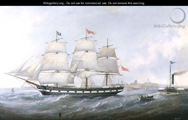 The Ship Salacia at the Mouth of the Tyne - John Scott