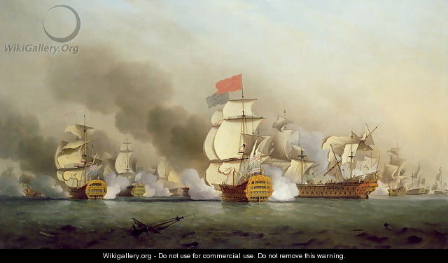 Vice Admiral Sir George Ansons 1697-1762 Victory off Cape Finisterre, 1749 - Samuel Scott