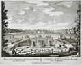 Fountain and water jets in a Dutch formal garden, from Admirandorum Quadruplex Spectaculum, by Jan van Call 1656-1703, published before 1715 - Pieter Schenk